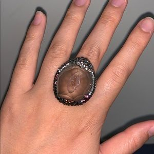 Authentic crystal ring